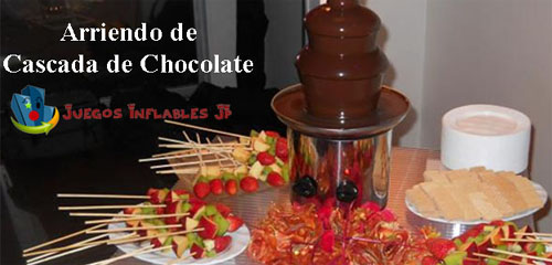 cascadas de chocolate